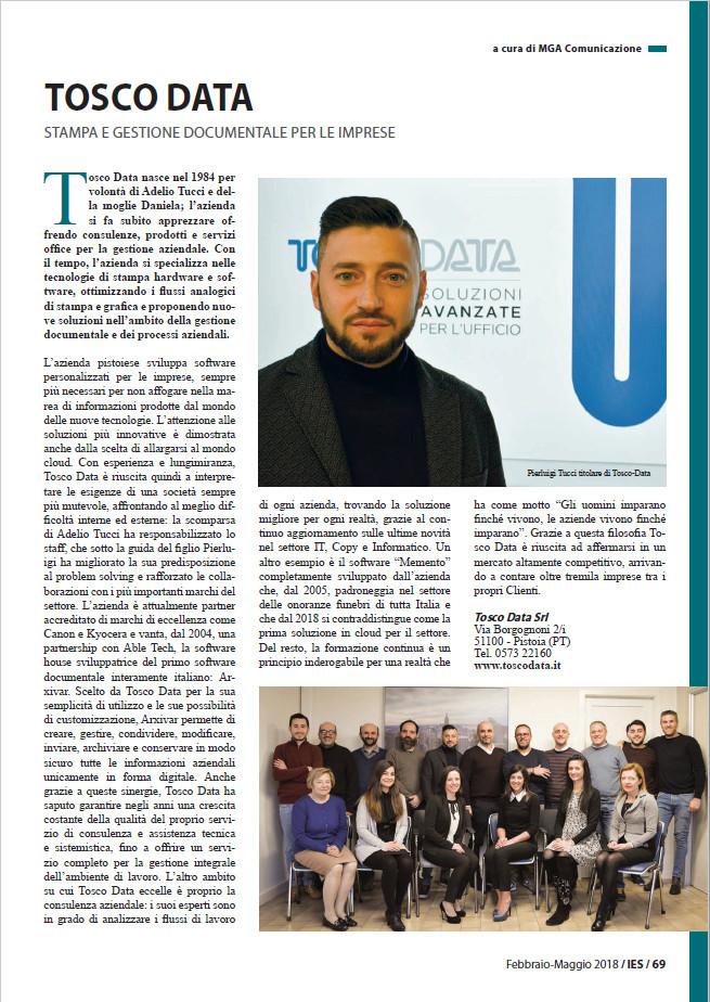 Uscito un articolo sulla rivista IES - Industria E Sviluppo